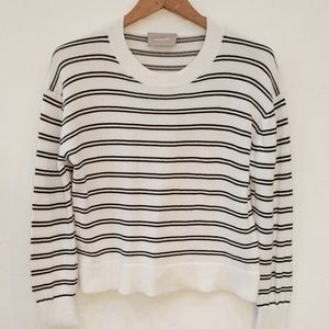 EVERLANE SQUARE STRIPED CREW NECK SWEATER  - S